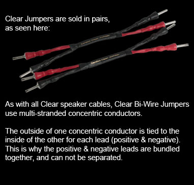 Clear Bi-Wire Jumpers on